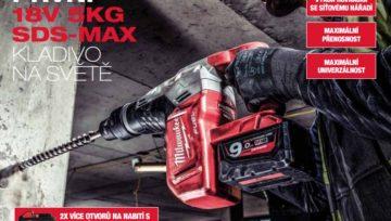 Aku SDS-MAX - První 18V 5kg kladivo na světě!
