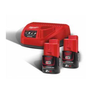Baterie a nabíječky sady M12